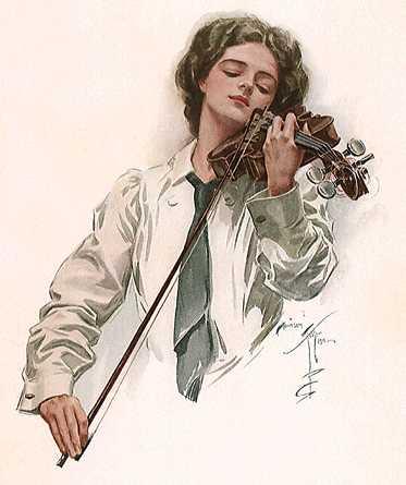 """Схемы вышивки  """"музыка.скрипка.скрипачь """" - Схемы вышивки по тегам - Портал  """"Вышивка крестом """" ."""